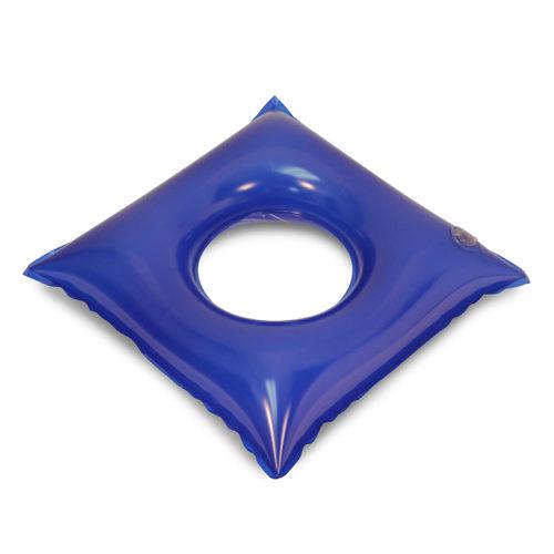 Almofada quadrada com orifício